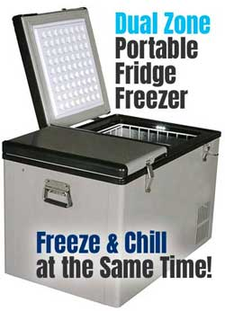Whynter Dual Zone Portable Fridge/Freezer for Camping, Office, Home