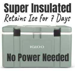Igloo Mission Super Insulated Car Cooler Keeps Ice Cold for 7 Days