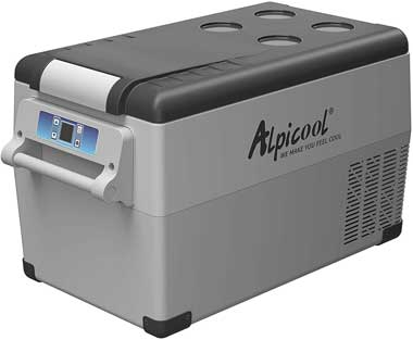 Alpicool Portable Fridge Freezer for Cooling Food While Traveling or Camping