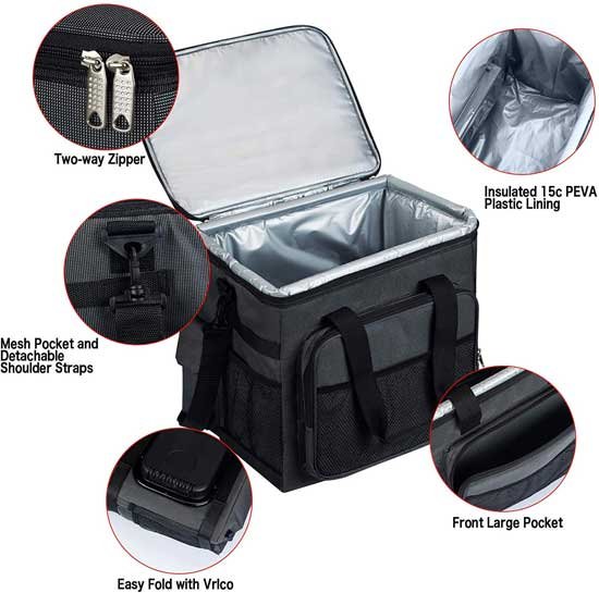 Thermoelectric Car Cooler Bag Features