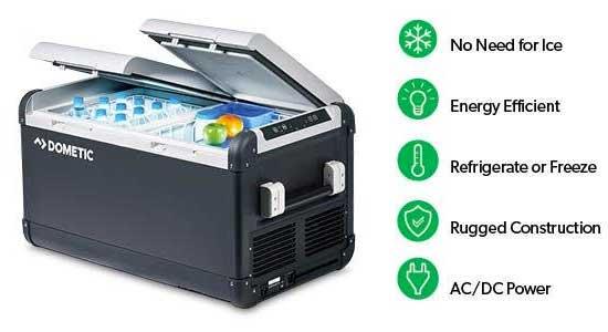 Dometic CFX 50 Fridge Freezer Features, Electric, 50 Quart, Energy Efficient