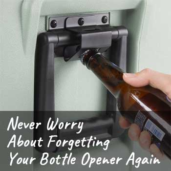 Built-in Bottle Opener on Igloo Cooler