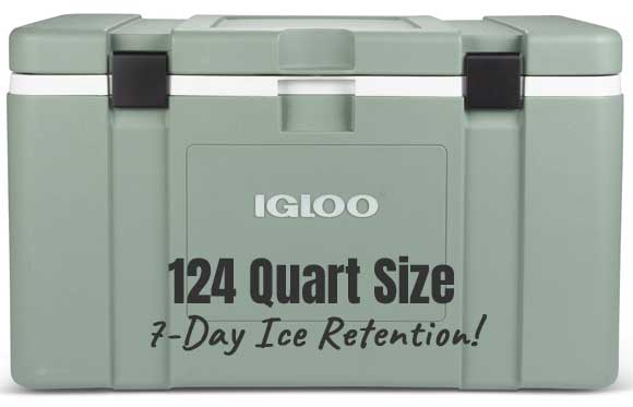 Igloo Mission Cooler 124 Quart Size Keeps Ice Cold for 7 Days