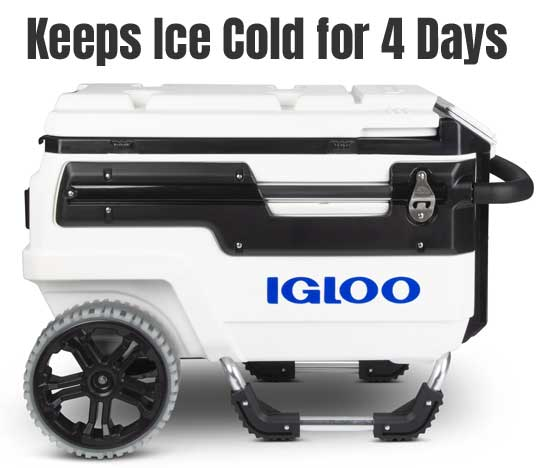 Igloo Trailmate Marine Cooler Keeps Ice Cold for 4 Days