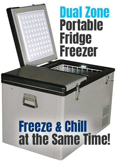 Whynter Dual Zone Portable Fridge Freezer with 2 Separate Compartments - Freeze and Chill Simultaneously!